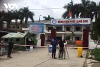 Lực lượng chức năng phong tỏa Bệnh viện Phổi Lạng Sơn.