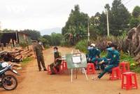 Một khu dân cư ở huyện Ea H'leo (nơi ghi nhận ca mắc Covid - 19 thứ 4) bị phong tỏa.