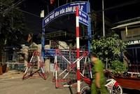 Một khu vực ở TP Thuận An bị phong tỏa.