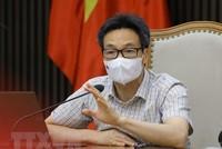 Phó Thủ tướng Vũ Đức Đam phát biểu chỉ đạo cuộc họp. (Ảnh: Nguyễn Điệp/TTXVN).
