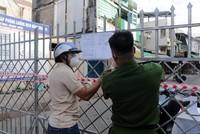 Cần Thơ phong tỏa tại phường Tân An, quận Ninh Kiều. (Ảnh: Trung Kiên/TTXVN).