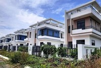 Những căn biệt thự xây dựng không phép đã cơ bản hoàn thành ở Dự án khu dân cư Tân Thịnh. (Nguồn: nhandan.com.vn).