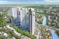Phối cảnh dự án Aster Garden Towers nhìn từ bên phải