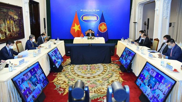Bộ trưởng Ngoại giao Bùi Thanh Sơn cùng đoàn Việt Nam tham dự Hội nghị Bộ trưởng Ngoại giao Cấp cao Đông Á lần thứ 11