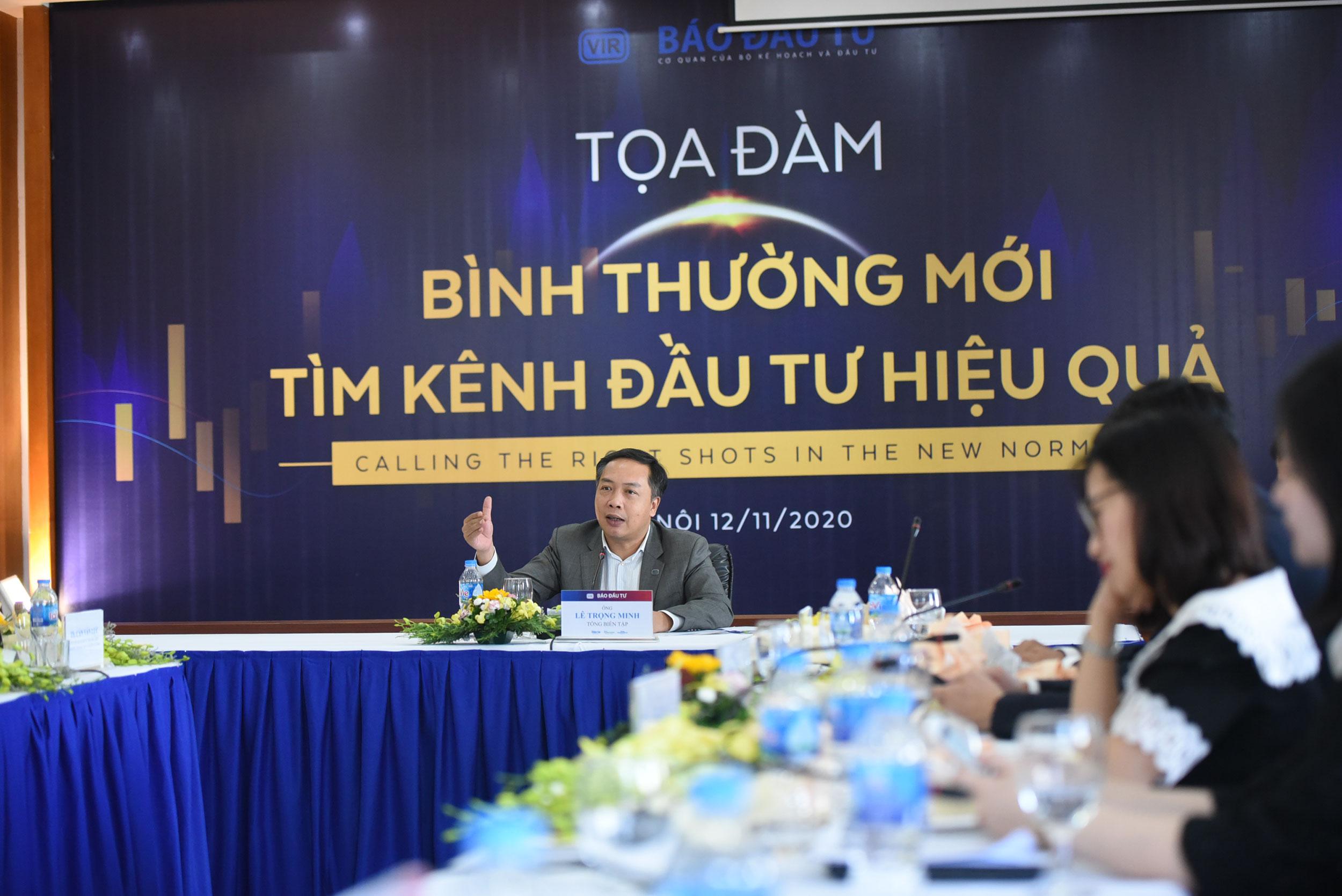 Ông Lê Trọng Minh, Tổng Biên tập Báo Đầu tư điều hành buổi Tọa đàm. Ảnh: Dũng Minh.