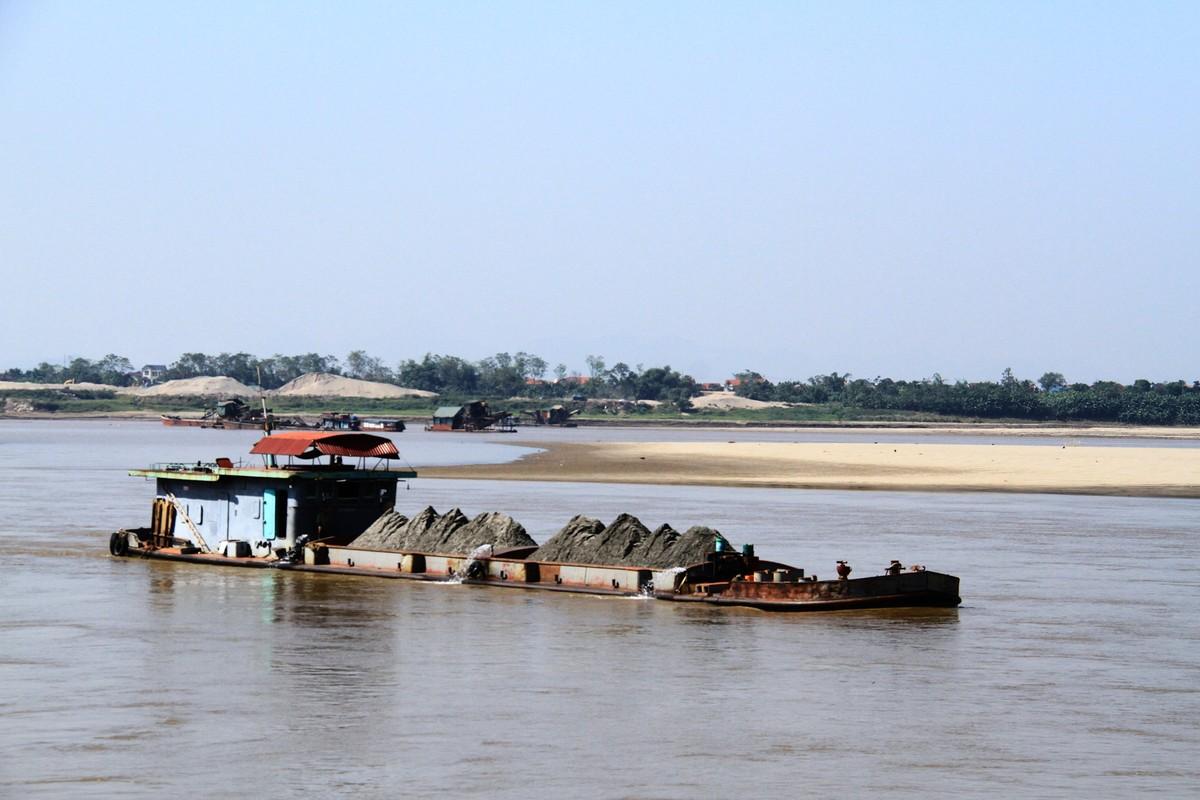 Ba Vì, Hà Nội: Tàu hút cát hoạt động ngày đêm ảnh 7