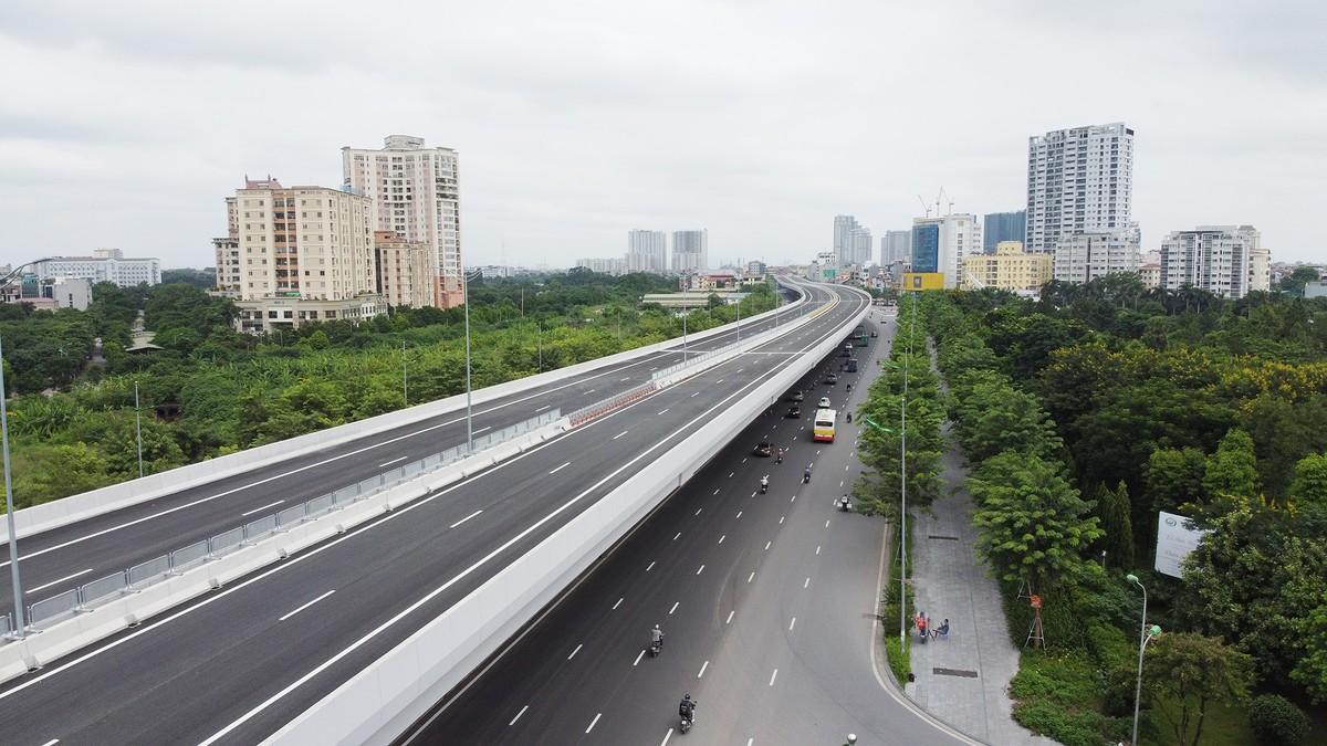 Chuẩn bị thông xe, vành đai 3 trên cao đoạn Mai Dịch - Nam Thăng Long vẫn chưa có lối lên xuống ảnh 3