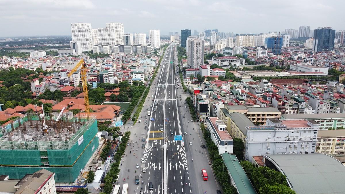 Chuẩn bị thông xe, vành đai 3 trên cao đoạn Mai Dịch - Nam Thăng Long vẫn chưa có lối lên xuống ảnh 1
