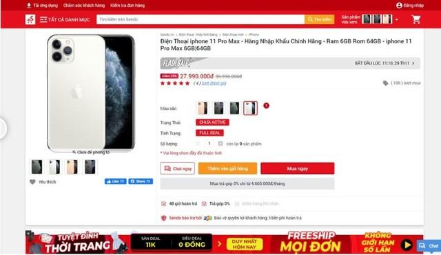 iPhone 11 giảm giá 10 triệu đồng ở Việt Nam là trò bịp Black Friday ảnh 2