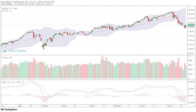 Góc nhìn kỹ thuật phiên giao dịch chứng khoán ngày 21/7: Thị trường đang trong giai đoạn thiếu lực cầu ảnh 1