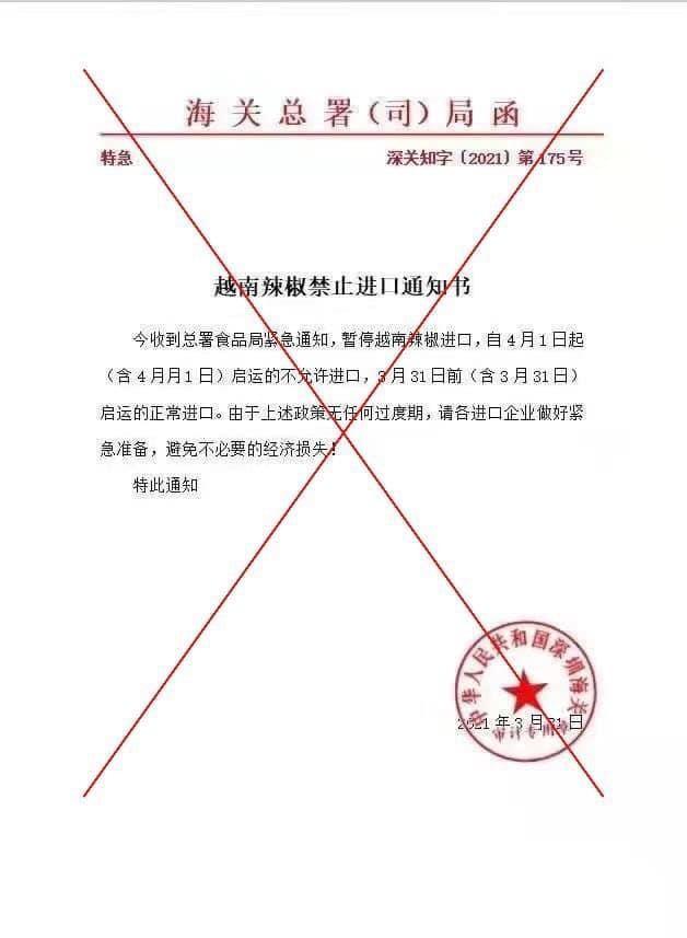 Bộ Công Thương: Thông tin Trung Quốc cấm nhập khẩu ớt từ Việt Nam là không chính xác ảnh 1