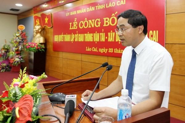 Lào Cai công bố thành lập Sở Giao thông Vận tải và Xây dựng ảnh 1