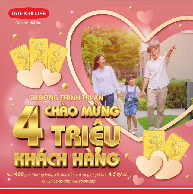 """Dai-ichi Life Việt Nam triển khai chương trình tri ân """"Chào mừng 4 triệu Khách hàng"""" ảnh 1"""