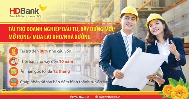 Đầu tư nhà xưởng nhà kho - Lo nguồn vốn đã có HDBank ảnh 1