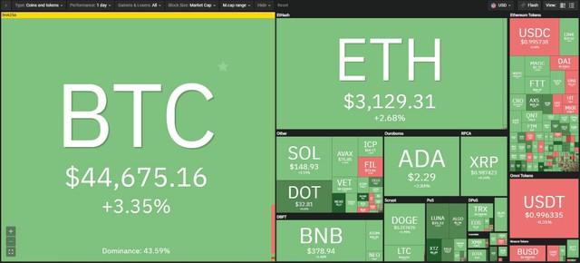 """Giá Bitcoin hôm nay ngày 24/9: Twitter giúp """"phủ xanh"""" thị trường tiền ảo ảnh 1"""