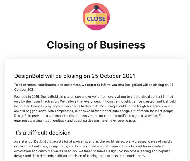 """Vì sao startup từng ôm mộng trở thành """"kỳ lân Việt Nam"""" DesignBold tuyên bố đóng cửa? ảnh 1"""