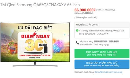 TV màn hình lớn giảm giá cả chục triệu đồng ảnh 1