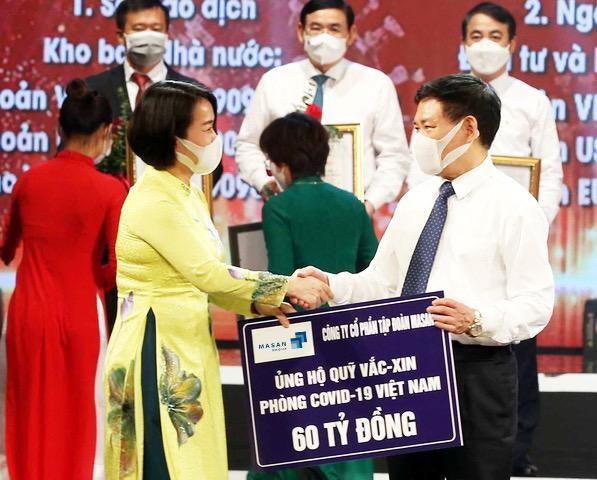 Tập đoàn Masan trao tặng 60 tỷ đồng đến Quỹ vaccine phòng chống COVID-19 ảnh 1