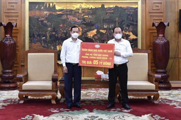 NHNN ủng hộ tỉnh Bắc Ninh và Bắc Giang phòng, chống dịch bệnh Covid-19 ảnh 1