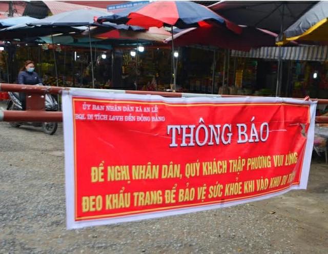 Chủ tịch Thái Bình kiểm tra công tác phòng, chống dịch do virus Corona tại một số đền, chùa ảnh 1