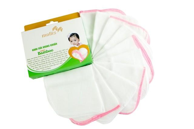 Khăn sữa kháng khuẩn giúp mẹ an tâm, bé mạnh khỏe ảnh 1
