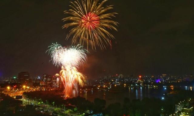 Mãn nhãn với màn pháo hoa chào năm mới Tân Sửu 2021 ảnh 4