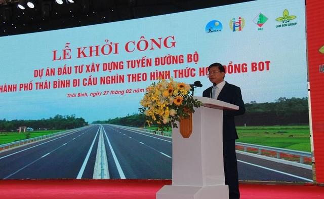 Thái Bình khởi công tuyến đường bộ hiện đại đi Hải Phòng ảnh 2