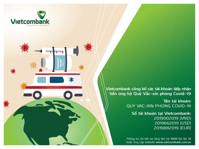 Công bố số tài khoản tiếp nhận tiền ủng hộ của quỹ vắc-xin phòng covid-19 tại Vietcombank ảnh 1
