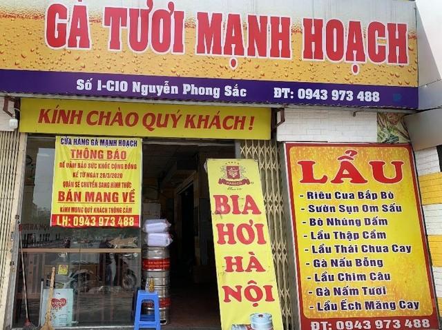 Hà Nội: Nhà hàng ăn, uống cơ bản chấp hành tốt quy định chỉ bán mang về ảnh 2