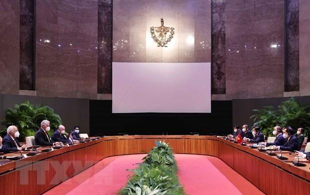 Cuba tặng Huân chương José Marti cho Chủ tịch nước Nguyễn Xuân Phúc ảnh 1