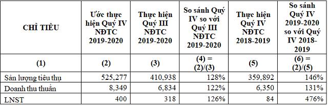 Hoa Sen (HSG) ước lãi quý IV niên độ tài chính 2019-2020 gấp 4,8 lần cùng kỳ ảnh 1