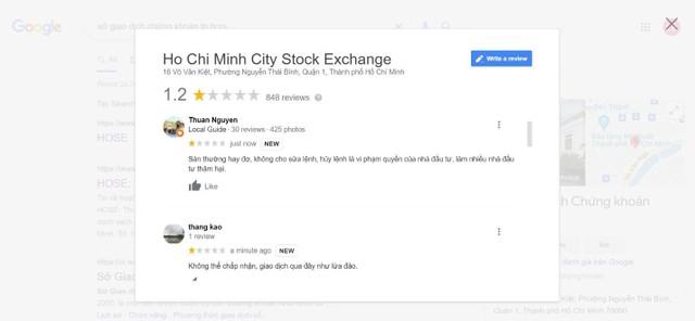 """1 sao biến mất, HOSE bất ngờ trở lại đánh giá 4.4 sao trên Google, bị """"bêu xấu"""" trên Wikipedia ảnh 2"""