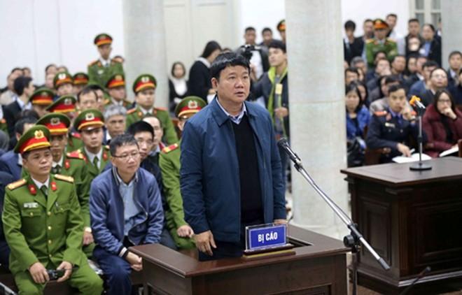 Ông Đinh La Thăng tại phiên tòa sơ thẩm diễn ra hồi tháng 1/2018.