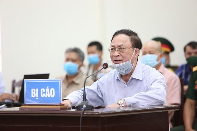 Bị cáo Nguyễn Văn Hiến tại phiên tòa sơ thẩm