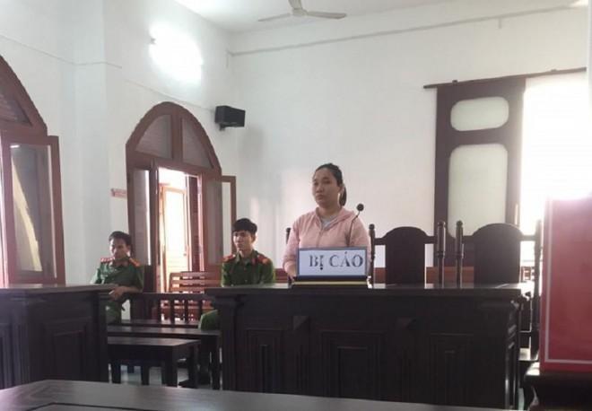 Bị cáo Hạnh tại phiên tòa sơ thẩm