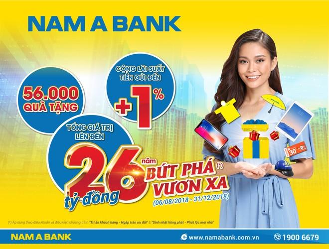 Nam A Bank dành 26 tỷ đồng tri ân khách hàng