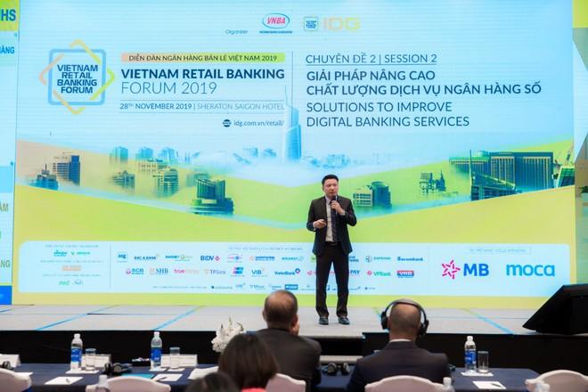 Lãnh đạo Nam A Bank thảo luận về giải pháp nâng cao chất lượng dịch vụ ngân hàng số tại một diễn đàn được tổ chức gần đây.