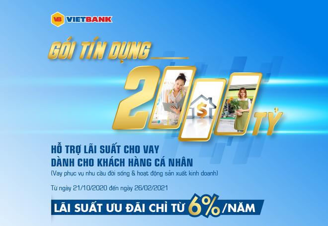 VietBank triển khai gói 2.000 tỷ đồng cho khách hàng cá nhân lãi suất từ 6%/năm