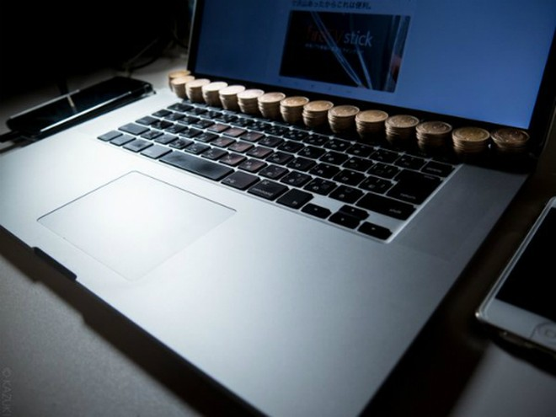 Người Nhật làm mát laptop bằng tiền xu