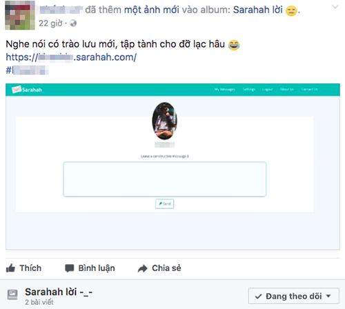 Ứng dụng nhắn tin nặc danh Sarahah càn quét mạng xã hội ảnh 1