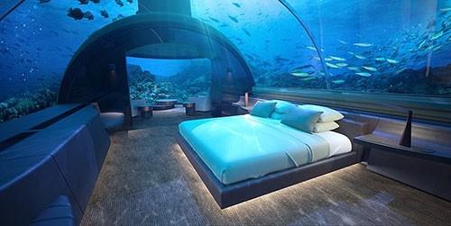 Tạp chí kiến trúc Architectural Digest cho biết đây là công trình đầu tiên thuộc loại hình nghỉ dưỡng này. Giá một đêm là 50.000 USD. Ảnh: Fox.
