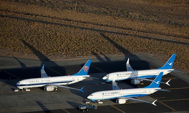 3 máy bay 737 Max dừng bay tại cơ sở của Boeing ở Washing hồi tháng 9. Ảnh: Reuters.
