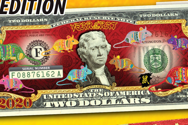 Tờ tiền được quảng cáo là do Bộ Tài Chính Mỹ phát hành nhưng tế chỉ là chiêu lừa đảo của các shop online. Ảnh TL.