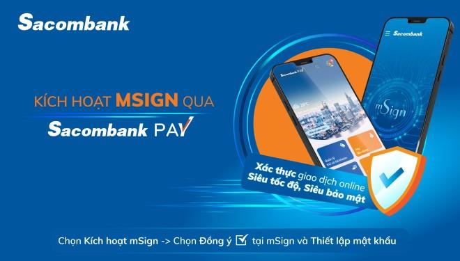 Dễ dàng đăng ký xác thực giao dịch trên Sacombank Pay