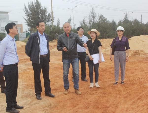Chủ tịch UBND tỉnh Quảng Bình kiểm tra tiến độ Dự án Khu Du lịch Indochina Quảng Bình Resort của Công ty cổ phần Đông Dương Miền Trung