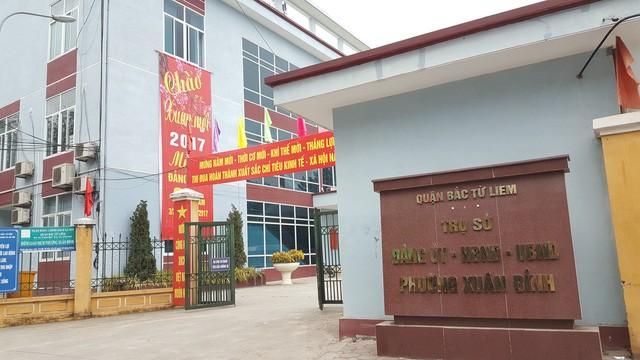 Trụ sở UBND phường Xuân Đỉnh, quận Bắc Từ Liêm.