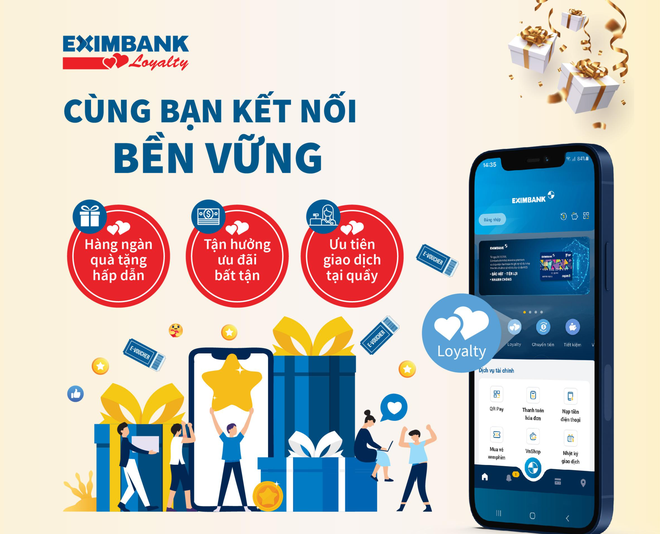 Eximbank Loyalty chăm sóc khách hàng thân thiết