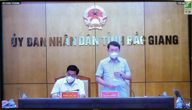 Bộ Công Thương cam kết đồng hành cùng Bắc Giang vượt qua giai đoạn khó khăn ảnh 1