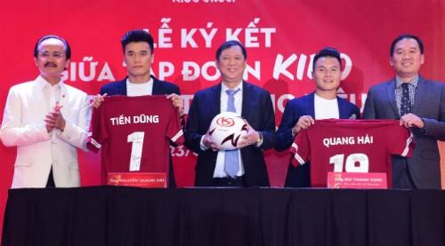 Giá trị hợp đồng làm đại sứ thương hiệu của Tiến Dũng và Quang Hải lên đến hàng chục tỷ đồng