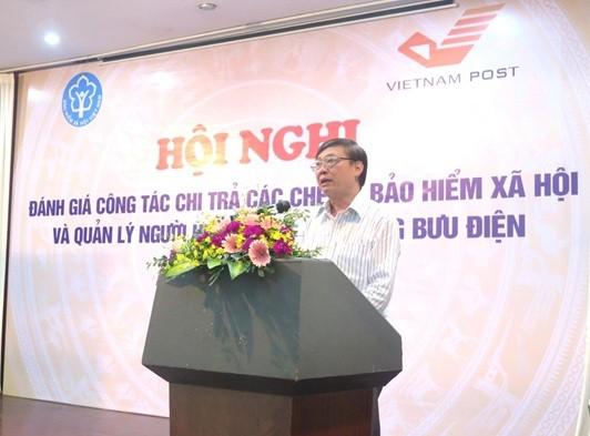 Phó Tổng Giám đốc BHXH Việt Nam Nguyễn Đình Khương phát biểu tại Hội nghị.